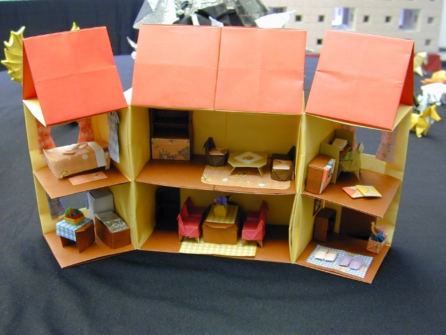 Origami Dollhouse With All The Fixings